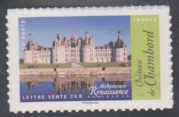 Année 2015 - N° 1114A - Architecture De La Renaissance En France : Château De Chambord - Pour Lettre 20 G. - Luchtpost