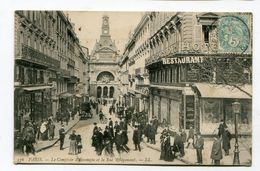 CPA   75 : PARIS   Rue Rougemont Très Animée    A  VOIR   !!!! - France