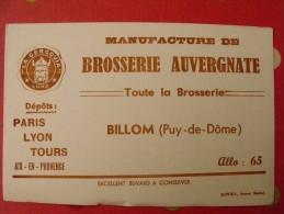 Buvard Brosserie Auvergnate. La Gergovia. Billom (puy De Dôme). Vers 1950 - Buvards, Protège-cahiers Illustrés