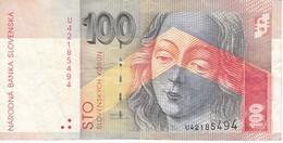 BILLETE DE ESLOVAQUIA DE 100 KORUN DEL AÑO 2001   (BANKNOTE) - Eslovaquia