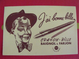 Buvard Baignol & Farjon Crayon Bille . Vers 1950 - Stationeries (flat Articles)