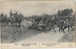 MILITARIA DRAGONS FRANCAIS AVEC MITRAILLEUSE GUERRE 1914 - War 1914-18