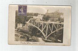 ALBI (TARN) RARE CARTE PHOTO DU PONT D'ITIE (DETRUIT) MAI 1928 - Albi