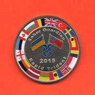 Usa - Ukrayna 2015 Rapid Trident Saber Guardian  Medal Medaille - Professionali/Di Società