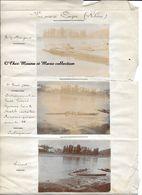 AVIRON A COUZON AU MONT D OR 1901 - GUILLON JEUNE ET HUIT FEDERE LYONNAIS POUR MATCH CONTRE PARISIENS - LOT DE 3 PHOTOS - Sport