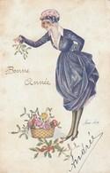 CPA. Xavier Sager - Col. Les Messagères. Bonne Année. Carte écrite En 1917. - Sager, Xavier