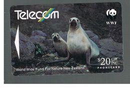 NUOVA ZELANDA - NEW ZEALAND - 1993 WWF: HOOKER' S SEA LION   - USED -  RIF. 10397 - New Zealand