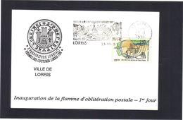 Inauguration De La Flamme D'oblitération Postale . 1° Jour .  VILLE DE LORRIS .  Loiret . - Poststempel (Briefe)