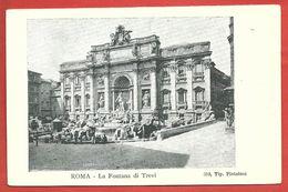 CARTOLINA NV ITALIA - ROMA - La Fontana Di Trevi - 9 X 14 - Fontana Di Trevi