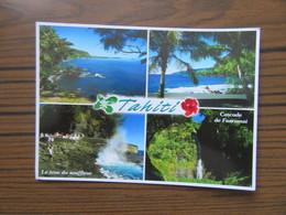 Multivues De Tahiti      Cascade De Faarumai                 Le Trou Du Souffleur - Tahiti