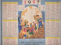 Calendrier COEURS VAILLANTS AMES VAILLANTES 1957 (CAT 1026) - Calendars