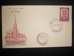 Inde Premier Jour St Thomas De Bombay 1964 - FDC