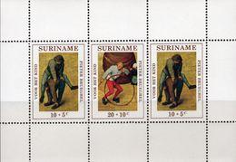 Spiele Vor Het Kind 1971 Surinam Block 11 ** 3€ Bocksprung Reifen-Spiel Hoja Ss Bloc Art Toys M/s Sheet Bf Children - Disney