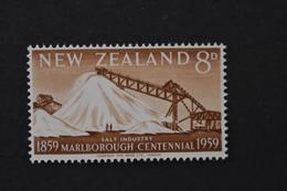 Nouvelle-Zélande - 1959 Centenaire De La Province De Marlborough Industrie Saline N° 377 Neuf ** - Neufs