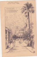 CPA -   DAKAR La Cathédrale Et Rue Dagorne - Sénégal