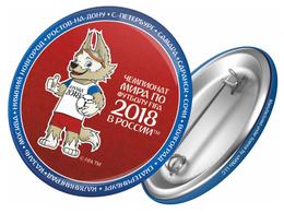 Russia 2018 World Cup 2018 Zabivaka, 44mm, Red-blue, Patch, Badge - Fussball