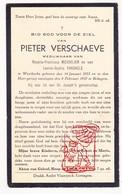 DP Pieter Verschaeve ° Westkerke Oudenburg 1855 † Bekegem Ichtegem 1937 X R. Messelier Xx L. VanDaele - Devotion Images