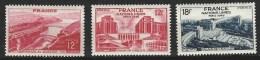 """FR YT 817 818 819 """" Barrage Et Palais De Chaillot """" 1948 Neuf** - France"""