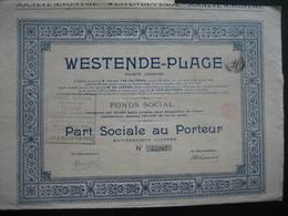 Action De 1924 BRUXELLES - WESTENDE-PLAGE - Actions & Titres