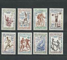 MAROC  Scott 45-52 Yvert 413-420 (8) * Cote 4,50 $ 1960 - Maroc (1956-...)