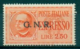 REGNO 1943-44  RSI ESPRESSO 2,50 ARANCIO G.N.R.  TIRATURA BRESCIA - 4. 1944-45 Repubblica Sociale