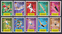 YEMEN ROYAUME N°  285, AERIENS N° 105 ** MNH Neufs Sans Charnière, 10 Valeurs, TB (D6547) Sports, Jeux Olympiques - Yémen