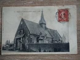 CPA église De Marfontaine Aisne Circulée 1910 - Autres Communes