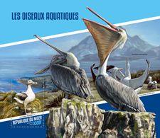 NIGER 2018 - Water Birds, Pelicans S/S. Official Issue - Pelikanen