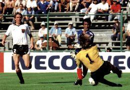 MUNDIAL 1982 - AUSTRIA-FRANCIA - CARTOLINA PUBBLICITARIA IVECO - Fútbol