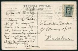 *Ramón Termens I Mauri* Pintor Y Arquitecto. Postal Autógrafa Fechada Sevilla 1930. - Autógrafos