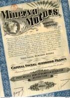 MINERVA MOTORS De 1920 - Automobile