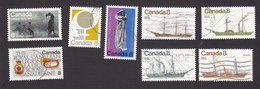 Canada, Scott #667-673, 680, Used, Ships, Culture Of Canada, Issued 1975 - Used Stamps