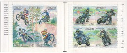 CARNET DE SUEDE - 2002 Y&T N° 2296 A 2303 - MOTOS CROSS,TRIAL, GLISSE ET VITESSE - Motorräder