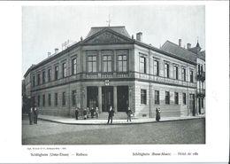 Photo De Schiltigheim - Hôtel De Ville   + Feuillet D'infos En Français Et Allemand - 1905 - Places