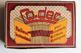 Rare Boite Ancienne Reliure Codec 5 Rue Lécuyer Saint Ouen Relieur Instantané - Autres Accessoires