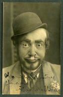 *Alexandre Nolla I Roig* Bcn 1881-1947. Pintor Y Actor. Autógrafo Sobre Postal Fotográfica. - Autógrafos