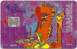 Cabo Verde - Cabo Verde Telecom - Tabanka 1999 (White Serial Down Right) 150U, Used - Cap Vert