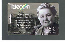 NUOVA ZELANDA - NEW ZEALAND - 1993 WOMEN SUFFRAGE: MABEL HOWARD   - USED -  RIF. 10399 - New Zealand