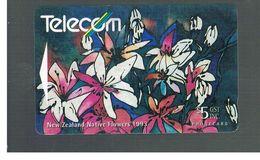 NUOVA ZELANDA - NEW ZEALAND - 1993 NATIVE FLOWERS: CLEMATIS  - USED -  RIF. 10399 - New Zealand