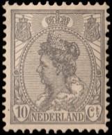 ~~~ Netherlands 1922 - Wide Background - Wijde Arcering - NVPH 81 * MH  ~~~ - Periode 1891-1948 (Wilhelmina)