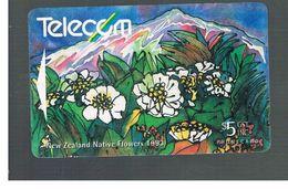 NUOVA ZELANDA - NEW ZEALAND - 1993 NATIVE FLOWERS: MOUNT COOK LILY  - USED -  RIF. 10399 - New Zealand
