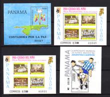 1985-87 Panama, Blocs   BF 34 / 38a**, Cote 91 €, - Panama
