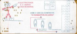 Recibo Da Companhia Do Gás E Electricidade 1969.Receipt Of The Gas And Electricity Company.Empfang Von Gas Und Strom.2sc - Electricité & Gaz