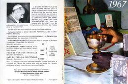 Calendrier PF St Pierre Apôtre 1967 - Calendars