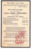 DP EZ Jacqueline Van Olmen ° Noorderwijk Herentals 1884 † Villa Madonna Vlimmeren Beerse 1934 / Huldenberg - Images Religieuses