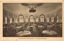 """- Alpes Maritimes -ref-B906- Juan Les Pins - """" Le Provençal """" - Le Grand Restaurant - Restaurants - Carte Bon Etat - - Antibes"""