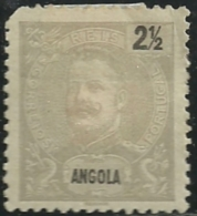 Angola 1898-1903 King Carlos A5 Mint Hinge Mark - Celebrità