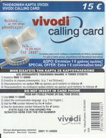 GREECE - VIVODI Prepaid Card 15 Euro, Tirage 25000, Exp.date 31/05/03, Sample - Grèce