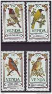 D90819 Venda South Africa 1985 SONG BIRDS MUSIC MNH Set- Afrique Du Sud Afrika RSA Sudafrika - Venda