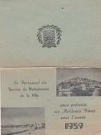 CAGNES SUR MER, Voeux Du Personnel Du Service Nettoiement De La Ville 1959 - Calendriers